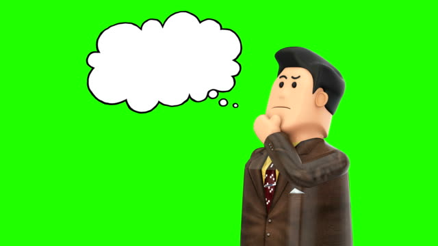 3d character having an idea - speech bubble stock videos & royalty-free footage