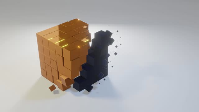 3d cube changes - cube stock videos & royalty-free footage