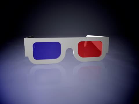 vídeos de stock, filmes e b-roll de 3 d óculos  - óculos de terceira dimensão