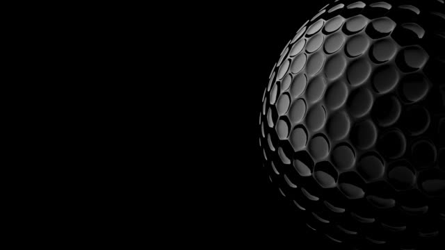 3d golf ball and include alpha channel.loopable