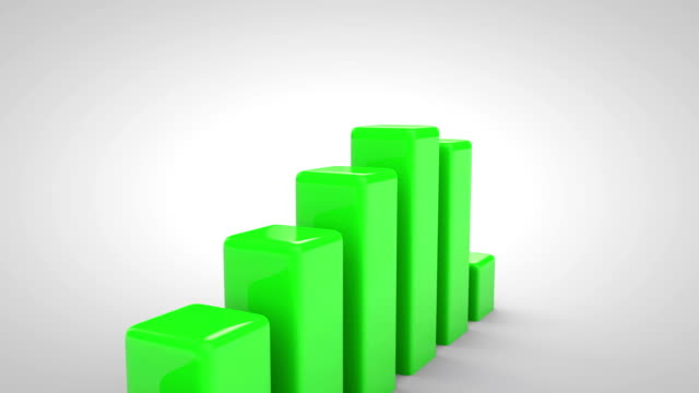3d growth chart - performance stock videos & royalty-free footage