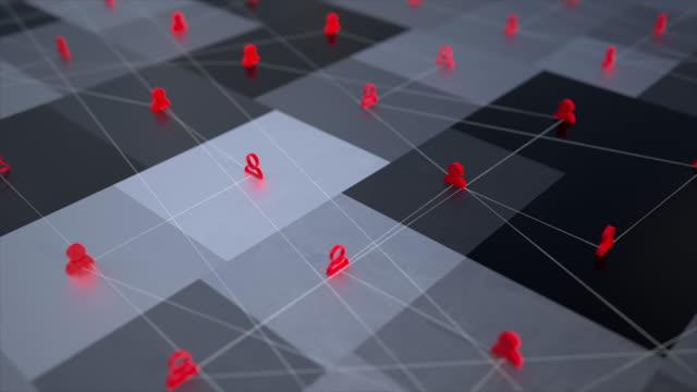 animazione del ciclo 3d del distanziamento sociale a causa del covid19 - coronavirus - social issues video stock e b–roll