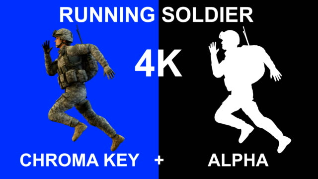 3d loopable running soldier - graphic war footage stock videos & royalty-free footage