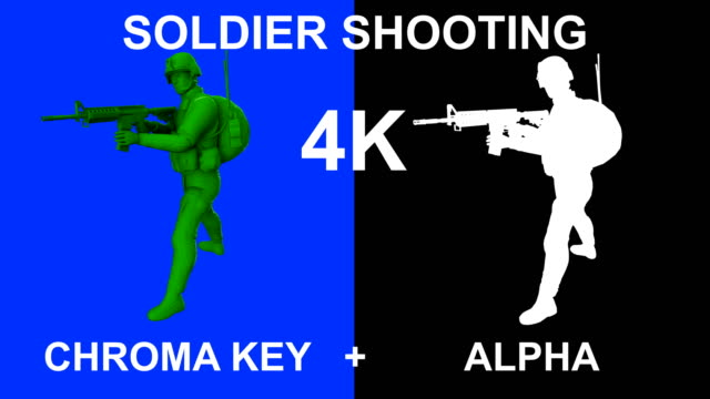 3d loopable soldier shooting - graphic war footage stock videos & royalty-free footage