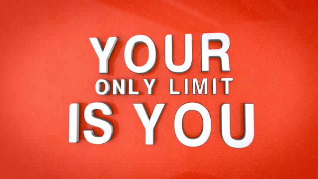 3d motivating phrase over an orange background. - motivation stock videos & royalty-free footage