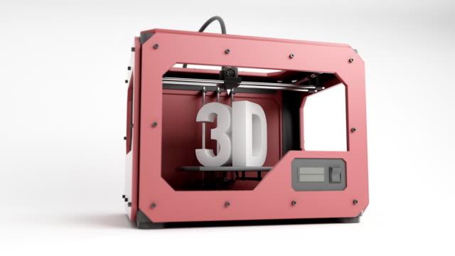 3d Printer Red ani rotating