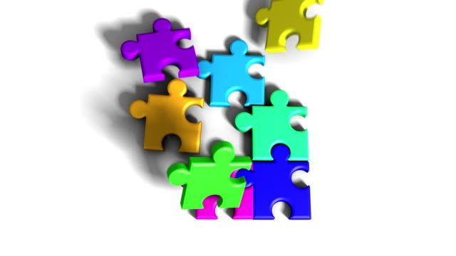 3d puzzle - jigsaw puzzle stock videos & royalty-free footage
