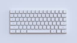 3d rendering abstract motion computer keyboard