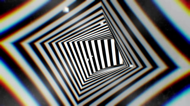 3d rendering animation hypnotic tunnel seamless looping  background - hypnosis stock videos and b-roll footage