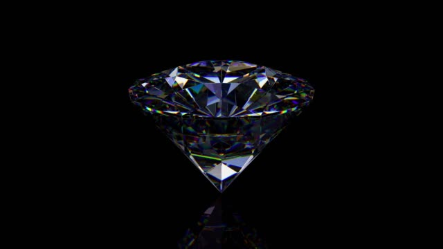 3d rendering motion diamond spinning reflection - stone object stock videos & royalty-free footage