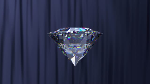 3d rendering motion diamond spinning reflection - transparent stock videos & royalty-free footage