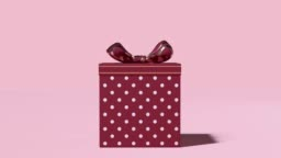 3d rendering motion graphic pink scene christmas concept gift box