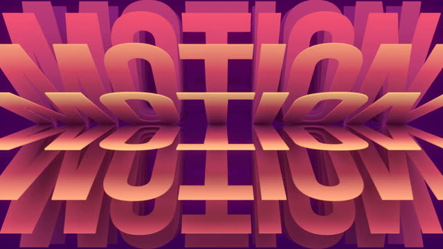 3d rendering seamless loop animation of the word motion. pink geometric modern pattern symbolizes movement forward, motivation, development, self-improvement. 4k, uhd - self improvement stock videos & royalty-free footage