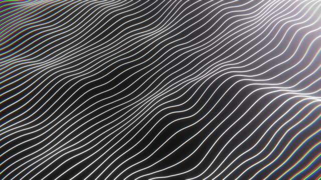 vidéos et rushes de rendu 3d bande de mouvement de modèle d'onde blanche fond abstrait - bombe