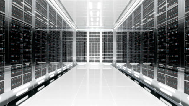 3d server room interior - server room stock videos & royalty-free footage