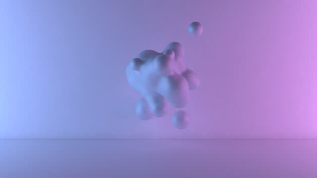 3d shapes motion - pastel stock videos & royalty-free footage