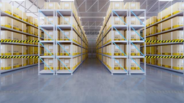 3d-lagervergrößern - box container stock-videos und b-roll-filmmaterial