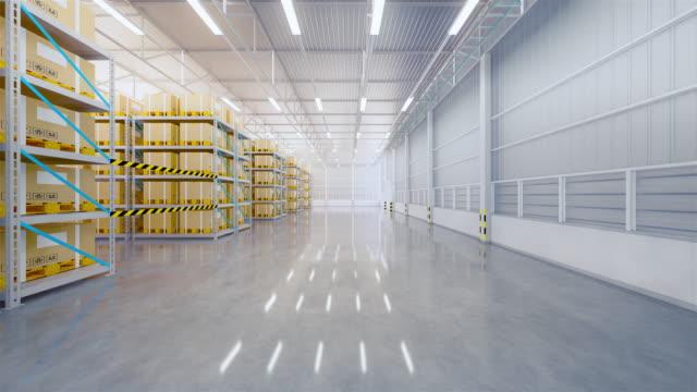 vídeos y material grabado en eventos de stock de zoom de almacén 3d - paleta herramientas industriales