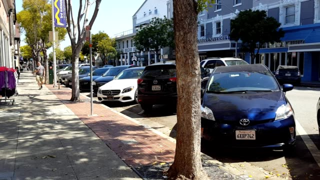 3rd avenue, san mateo - silicon valley stock videos and b-roll footage