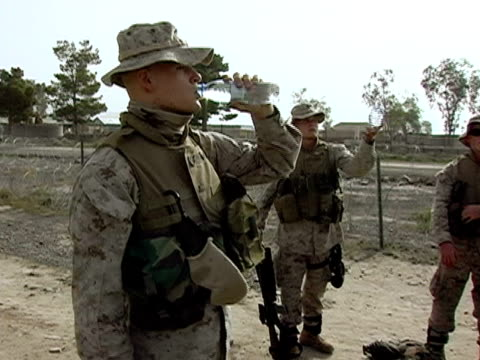 3rd battalion sixth marine regiment at fob salerno khowst province afghanistan - infanterie stock-videos und b-roll-filmmaterial