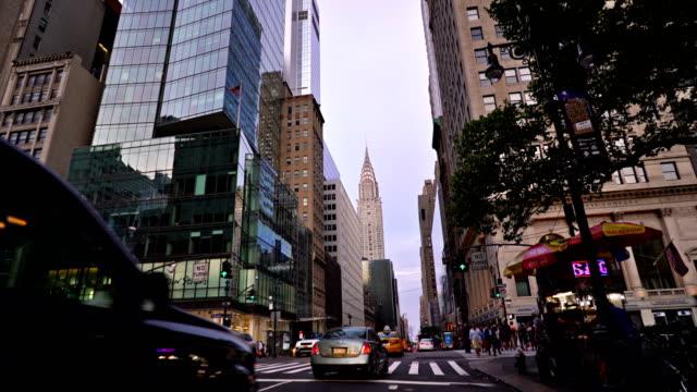 vidéos et rushes de 42e rue. 5 avenue. crysler building - avenue