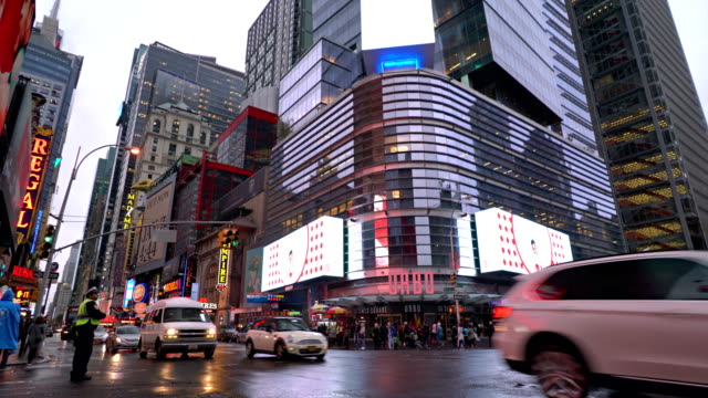 42nd street, 8th avenue. - electronic billboard stock videos and b-roll footage