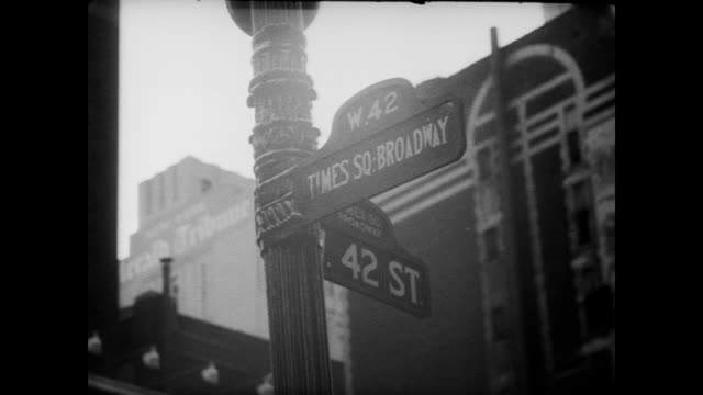 1948 42nd street and broadway, nyc - broadway manhattan stock videos & royalty-free footage