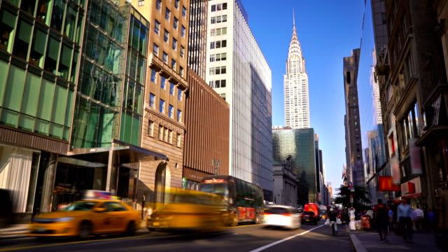 42nd street and chrysler building - chrysler building stock videos & royalty-free footage