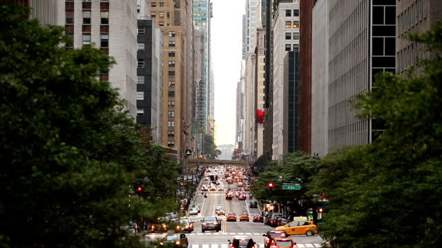 42nd street from tudor city in new york city - west direction stock videos & royalty-free footage