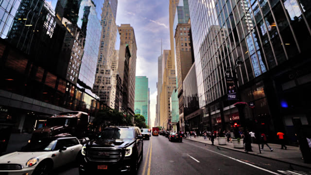 42nd street, new york. business background - midtown manhattan stock videos & royalty-free footage