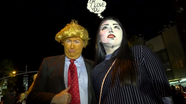 43rd annual greenwich village halloween parade via 6th avenue, manhattan, new york city, usa. - parade stock videos & royalty-free footage