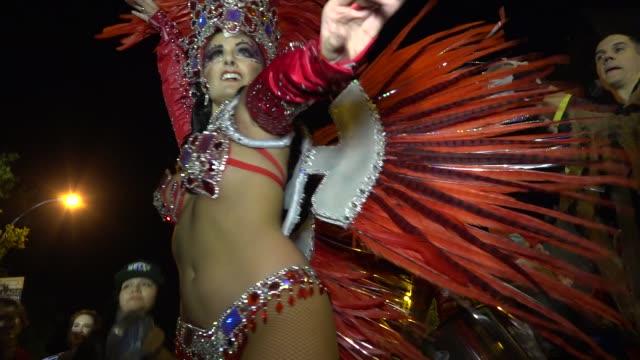 43rd annual Greenwich Village Halloween Parade via 6th Avenue Manhattan New York City USA / Member of the Manhattan Samba School