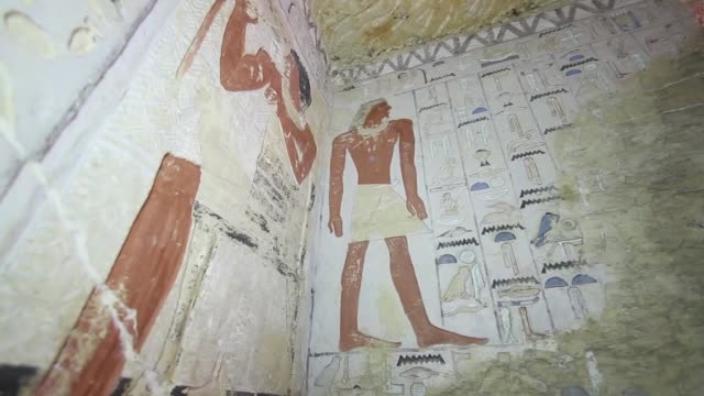 a 4400yearold pharaonicera tomb has been discovered south of egyptian capital cairo egypt's antiquities ministry announced saturday at a press... - saqqara stock videos and b-roll footage