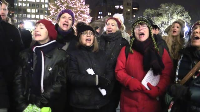 44th annual christmas carols singers at washington square park - carol singer stock videos & royalty-free footage