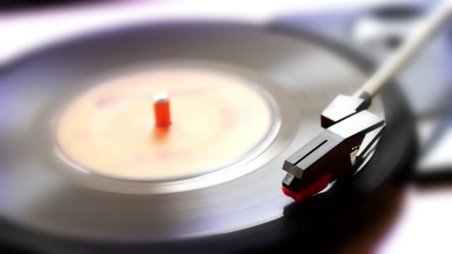 45rpm single record on a turntable. - single object stock videos & royalty-free footage