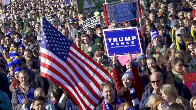 45th annual march for life the 'march for life' is the largest prolife rally in the world guest speaker included president of the united states... - unterstützer stock-videos und b-roll-filmmaterial