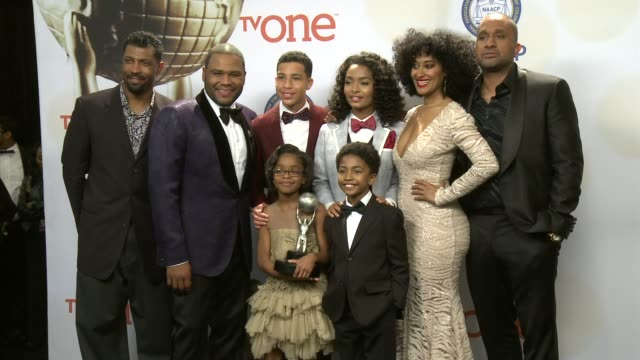 chyron 46th annual naacp image awards press room at pasadena civic auditorium on february 06 2015 in pasadena california - event capsule stock videos & royalty-free footage