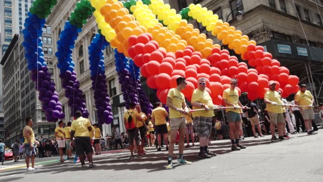 47th Anniversary of the annual New York City Gay Pride March via 5th Avenue and ending in the West Village The NYC Pride March is one of the largest...