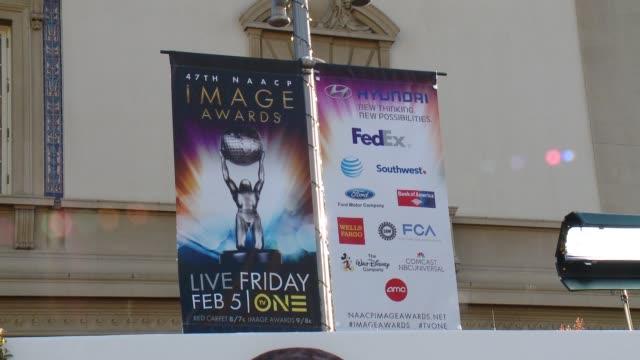 ATMOSPHERE SIGNAGE 47th Annual NAACP Image Awards at Pasadena Civic Auditorium on February 05 2016 in Pasadena California