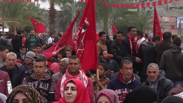 48th anniversary of founding of democratic front for the liberation of palestine which is one of the member organizations of palestinian liberation... - international criminal court stock videos and b-roll footage