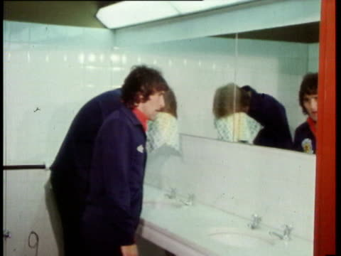 4jun1978 montage scottish team after defeat by peru gordon mcqueen lou macari in changing room / united kingdom / audio - 1978 stock videos & royalty-free footage