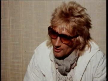 jun-1978 rod stewart being interviewed after scottish team being defeated by peru / united kingdom / audio - rod stewart stock-videos und b-roll-filmmaterial