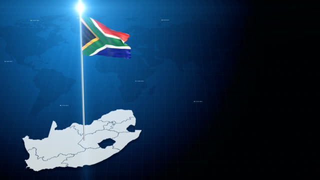 4k 3d flag with map + green screen background - south africa stock videos & royalty-free footage