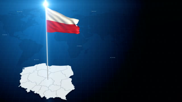 4k 3d flag with map + green screen background - poland stock videos and b-roll footage