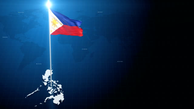 4k 3d flag with map + green screen background - philippines flag stock videos & royalty-free footage