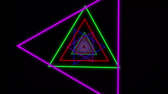 4k abstract background with neon triangles.neon geometric shapes and lines. - 1984 stock videos & royalty-free footage