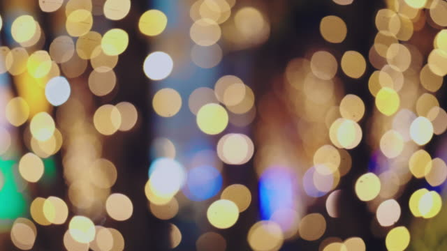 4k abstract bokeh background loop (multi colored) - plant bulb stock videos & royalty-free footage