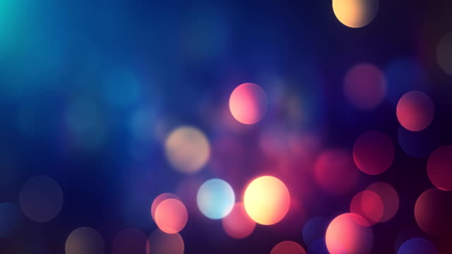 4k abstract bokeh background loop (multi colored) - multi coloured stock videos & royalty-free footage
