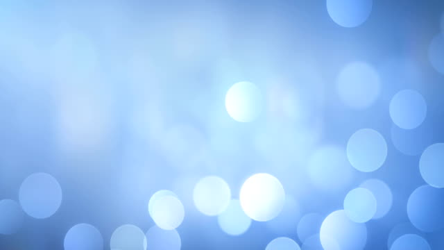4k Abstract Bokeh Background Loop (Bright Blue)