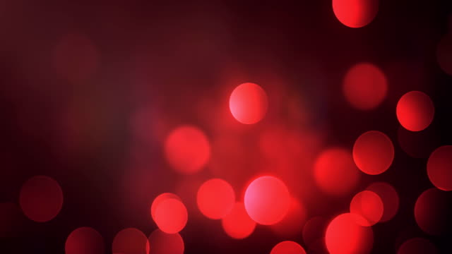 4k Abstract Bokeh Background Loop (Red)